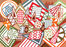 Abstract geometric shapes background Stock Photos