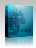 Abstract geometric shapes box package Royalty Free Stock Photo