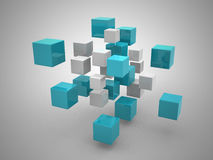 Abstract geometric shapes from cubes Stock Photos