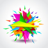 Abstract Geometric Shapes Explosion Vector Royalty Free Stock Photo
