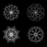 Abstract geometric shapes, futuristic wavy fractal in vector Stock Images