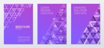 Abstract geometric shapes polygon design vector background Stock Photography