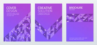 Abstract geometric shapes polygon design vector background Stock Photo