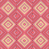 Abstract geometric shapes seamless pattern. Hand-drawn geometric squares seamless pink and orange pattern royalty free illustration