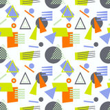 Abstract geometric shapes seamless pattern Royalty Free Stock Images
