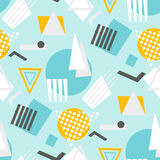 Abstract geometric shapes seamless pattern Stock Image