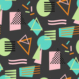 Abstract geometric shapes seamless pattern Royalty Free Stock Photography
