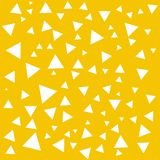 Geometric structure brush. Abstract white triangles on the yellow backdrop. Triangle background. Abstract geometric shapes texture. Triangles backdrop. Triangle vector illustration