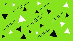 Geometric mosaic structure. Abstract black and white triangles backdrop. Triangle on the green background. Abstract geometric shapes texture. Triangles backdrop royalty free illustration
