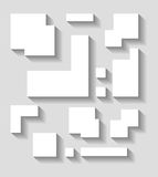 Abstract geometric shapes vector  decor with shadow on a gray ba. Ckground Royalty Free Stock Photos