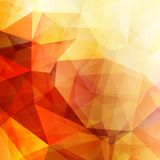 Abstract geometric shining yellow background Stock Image