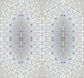 Seamless ornaments silver gray with blue elements shiny. Abstract geometric shiny background, seamless ellipses pattern silver gray with blue elements, elegant royalty free illustration