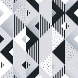 Abstract geometric silver pattern background of square and triangle elements for modern trendy design template. Vector geometry ba Stock Photo