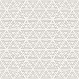 Abstract geometric simple pattern of triangles. Abstract geometric pattern of triangles with diamonds at the corners. Modern stylish texture. Repeating Stock Photo