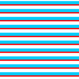 Abstract geometric simple striped seamless pattern in blue red and white, vector Royalty Free Stock Images
