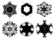 Abstract geometric snowflake Stock Photo