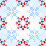 Abstract geometric snowflake. Background Royalty Free Stock Photography