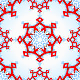 Abstract geometric snowflake Royalty Free Stock Photos