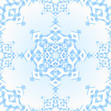 Abstract geometric snowflake. Background Stock Image