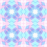 Abstract geometric snowflake. Background Royalty Free Stock Photo