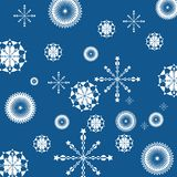 Abstract geometric snowflakes Stock Photography