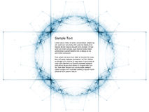 Abstract Geometric Space Grid Royalty Free Stock Images