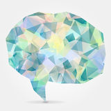 Abstract geometric speech bubble with triangular polygo Stock Photography