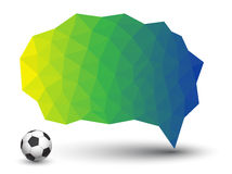 Abstract geometric speech bubble. With triangular polygons Vector Illustration