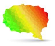 Abstract geometric speech bubble Royalty Free Stock Photo