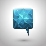 Abstract geometric speech bubble with triangular polygons Royalty Free Stock Photos