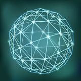 Abstract geometric sphere composition Royalty Free Stock Images