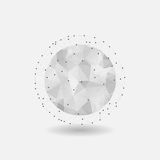 Abstract geometric spherical shape Royalty Free Stock Photo