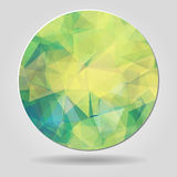 Abstract geometric spherical shape from triangular faces Royalty Free Stock Photos