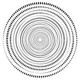 Abstract geometric spiral, ripple element with circular, concentric lines. Abstract monochrome element. Royalty free vector illustration royalty free illustration