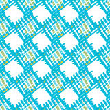 Abstract geometric spotty square seamless pattern. Stock Photos