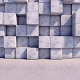 Abstract geometric square background of the. Abstract geometric background of the concrete. 3d photorealistic render Royalty Free Stock Photography