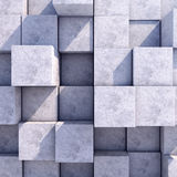Abstract geometric square background of the. Abstract geometric background of the concrete. 3d photorealistic render Royalty Free Stock Images