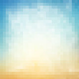 Abstract geometric square background of pixels in gradient color Stock Image