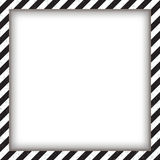 Abstract geometric square frame, with diagonal black and white. Vector illustration Stock Photography