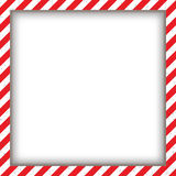 Abstract geometric square frame, with diagonal red and white. Vector illustration Royalty Free Stock Photos