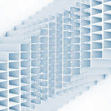 Abstract geometric square pattern. 3d blue cells. High-tech structure on white background royalty free illustration