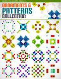 Abstract geometric square patterns shapes set Royalty Free Stock Photography