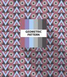Abstract geometric striped pattern. With colorful rhombus and color palette stock illustration