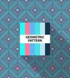 Abstract geometric striped pattern. With colorful rhombus and color palette royalty free illustration