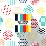Abstract geometric striped pattern with colorful rhombus. And color palette royalty free illustration