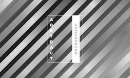 Abstract Geometric Striped Poster. royalty free illustration