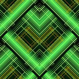 Abstract geometric striped vector 3d seamless pattern. Bright sh royalty free illustration