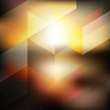Abstract geometric sunset background Royalty Free Stock Photo