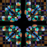 Abstract geometric and symmetric colorful design Stock Photos