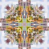 Abstract geometric symmetrical fractal pattern. Abstract geometric symmetrical fractal background pattern design stock illustration